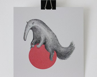 Spacehopper - 'Anteater' - Hand made card
