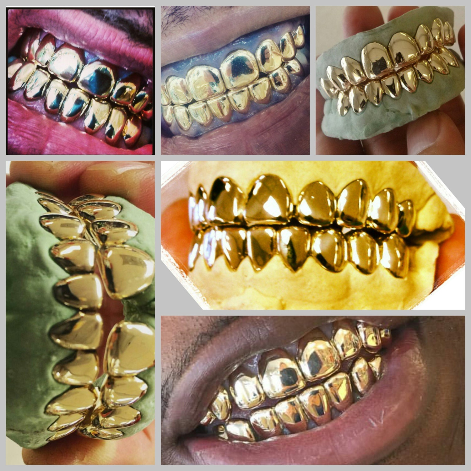 10k gold teeth 8 top and 8 bottom by grillzgodz on etsy