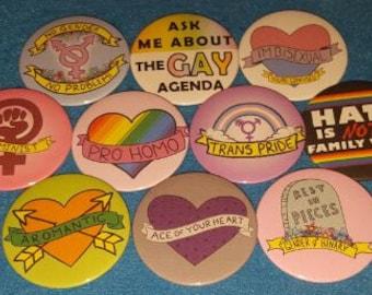 LGBTQ+ Feminist Pin