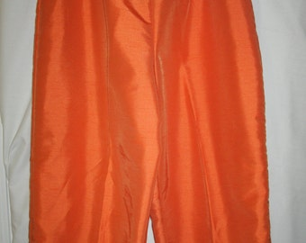 Orange Capri Pants, Size Large, by Studio C,  Nylon-Polyester Blend, After Five Capri Pants