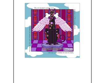 Angel Dog Art Print 8.5x11 My Canine Love Spiritual