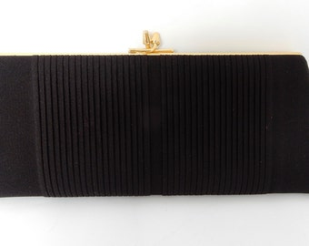 A Lovely Vintage Black Clutch Bag,Evening Bag, Purse, good condition, Retro,