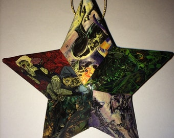 FREE SHIPPING DC Superheroes as monsters ornament Christmas ornament Comic Book Decoupage