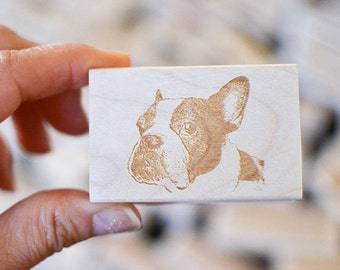 Dog Portrait Rubber Stamp - Custom Stamp - Customized Stamp - Personalized - Gift Idea