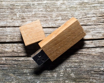 Set of 10 OAK wood USB flash drive memory sticks 8GB/16GB/32GB/64GB