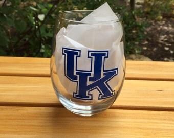 University of Kentucky UofK Stemless Wine Glass