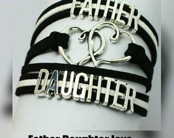 Father Daughter love Bracelet