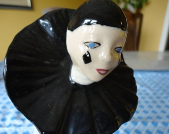 Vintage Ceramic Crying Clown