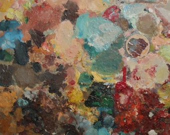 Abstract expressionst vintage oil painting