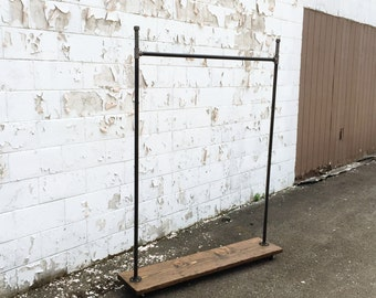 "Industrial Iron Pipe ""Straight Up Hook"" Clothes Rack"