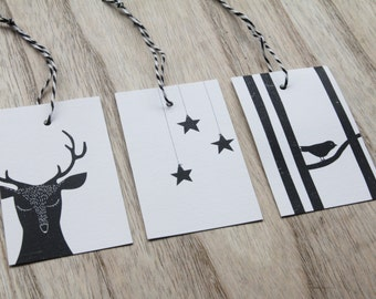 """6 Gift tags """"winter"""""""