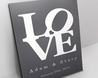 Personalized Love Canvas - All Sizes - Custom Canvas - Gallery Wrapped Canvas Wall Art - Customized For You