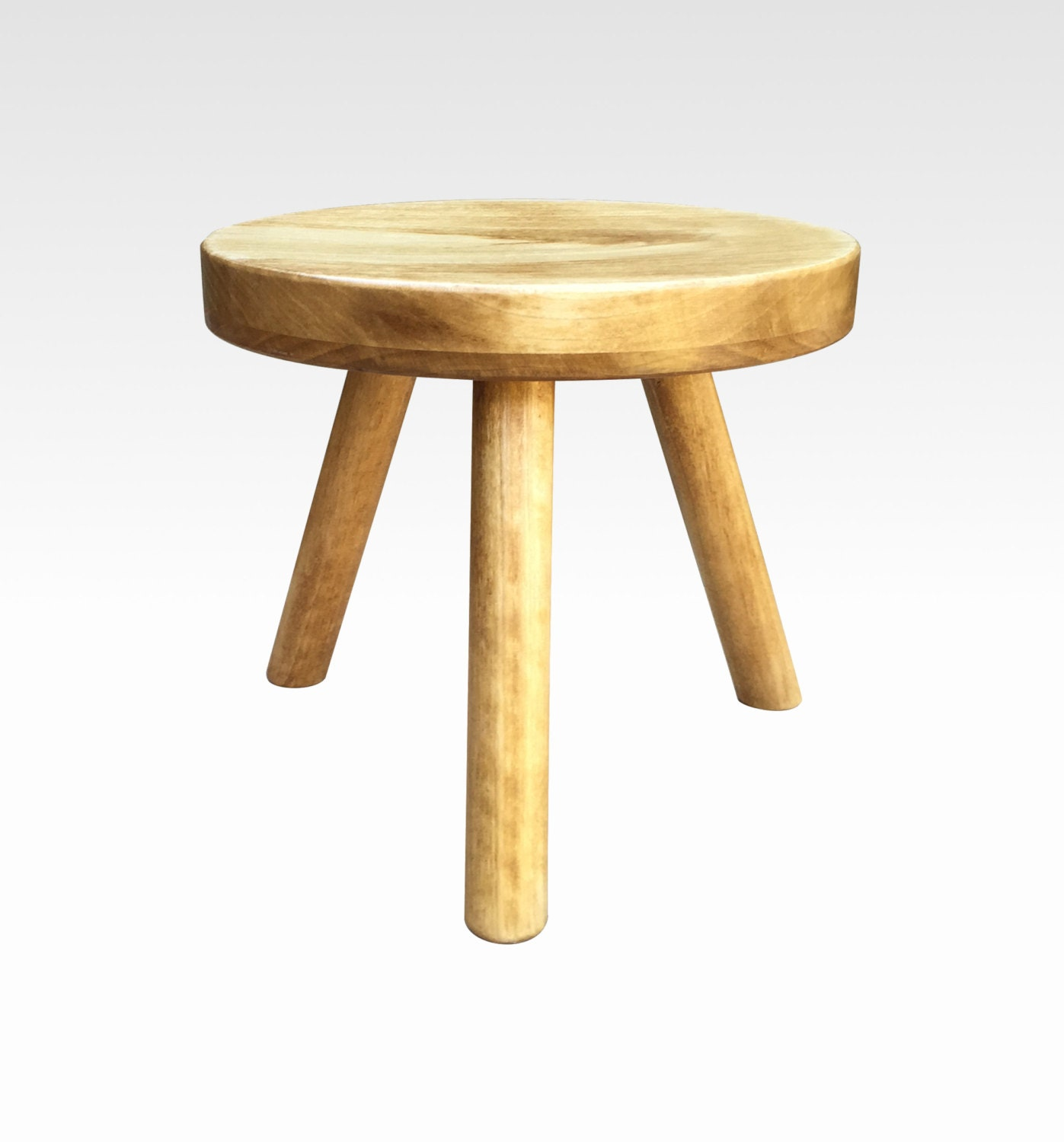 Modern Plant Stand Small Wood Stool Tea By CandlewoodFurniture. Full resolution‎  file, nominally Width 1397 Height 1500 pixels, file with #B1781A.