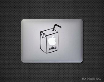 Apple Juice box Macbook decal - Macbook sticker