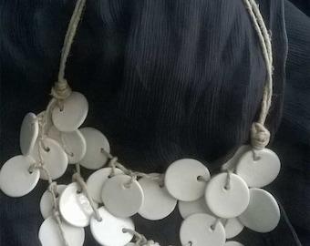 Adjustable ceramic Bead Necklace