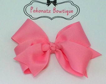 Pink Boutique Hair Bow, Pink Hair Bow, Toddler Hair Bow, Girls Hair Bow, Baby Hair Bow, Infant Pink Hair Bow