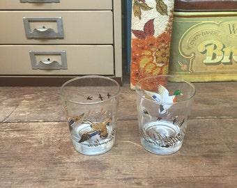 Vintage Bird Dog Drink Glasses Set of 2