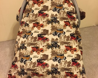 Vintage Ford Car Seat Canopy - Personalization is available