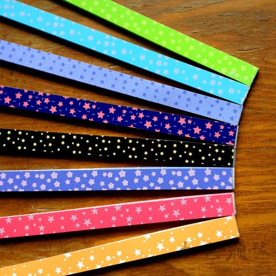 Origami lucky star paper strips tiny stars mixed designs for Diy lucky stars