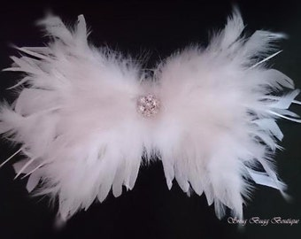 White Feathers Angle Wing | New Born Photo Prop | Baby Wing | Baby Wing Gift