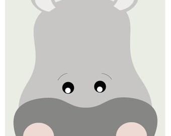 Hippo Print - A3