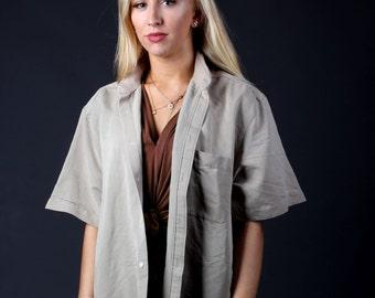 Vintage Brown Short Sleeved Shirt
