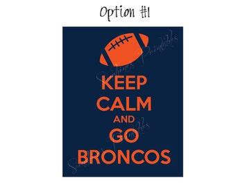 Denver Broncos Wall Decor go broncos | etsy