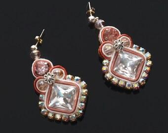 """Soutache earrings """"Spriz"""""""
