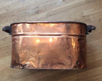 Vintage copper ice bucket