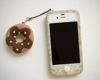 Donut Cell Phone Charm - Chocolate