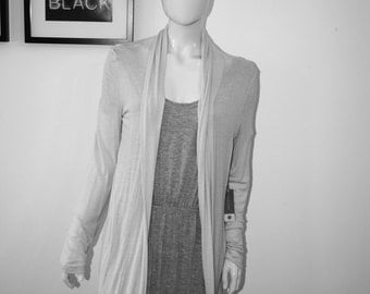 Long Cardigan open silk cotton transparent luxury Leicht Sommer designed & made in Germany