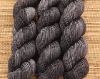 Hand dyed yarn - 50g Extra Fine Merino, DK weight (8 ply) in 'Smokin'