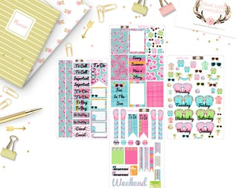 Fun In The Sun Planner Stickers, Happy Planner, Planner Stickers, [HPKIT1-4#009]