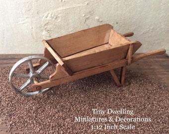 Miniature Wheelbarrow, Dollhouse Garden Cart, Dollhouse Wheelbarrow, Miniature Gardening, Garden Hand Truck