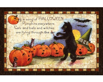 Sing a Song of Halloween Sign