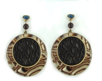 Vintage Disc Earrings