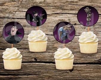Hotel Transylvania Cupcake Toppers, Hotel Transylvania Birthday, Hotel Transylvania Party, Hotel Transylvania Birthday Party, DIGITAL