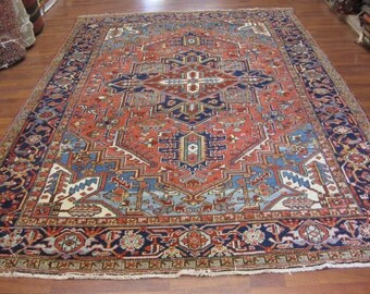 Antique persian heriz Rug-4391