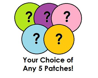 Any 5 Circular Patches SALE!