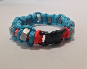 Paracord Hex Nut Bracelet