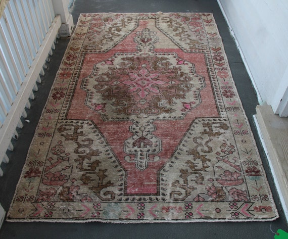 Us Seller 4 5x7 2 Turkish Vintage Rug Blush Rose Hot