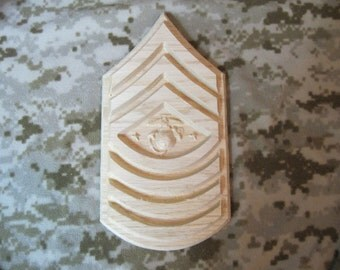 Sergeant Major of the Marine Corps Plaque,  E-9, Approx 11x7, United States Marine Corps, SgtMajMarCor