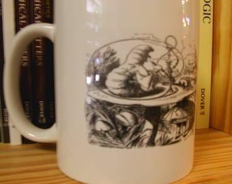 Caffeinated Classics: Alice in Wonderland Who Are You? Literary Book Mug