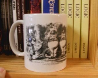 Caffeinated Classics: Alice in Wonderland with Tweedles Literary Book Mug