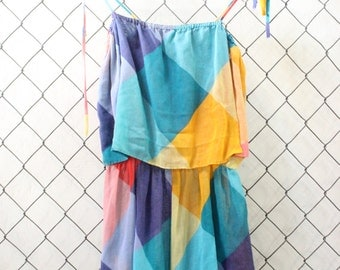Vintage Colorful Romper
