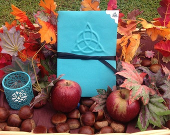 """Book of shadows """"Turquoise Triquetra"""""""