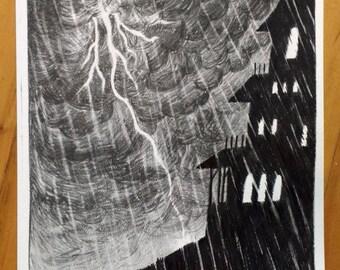 Print - Haunted Castle