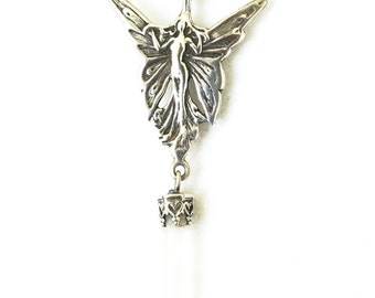 Fairy and Crystal Necklace Sterling Silver