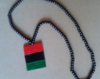 RBG flag necklace