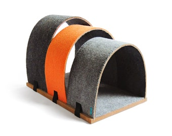 Cat house & bed - CHAPEL / ORANGE